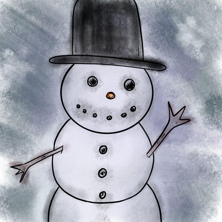 The happy snowman - Hammar.arts