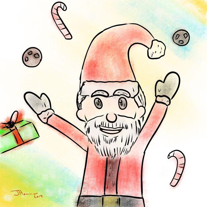 The giving Santa - Hammar.arts