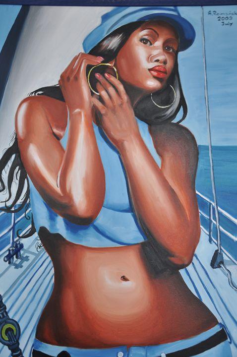 The Girl on the Boat - GalerieMansart