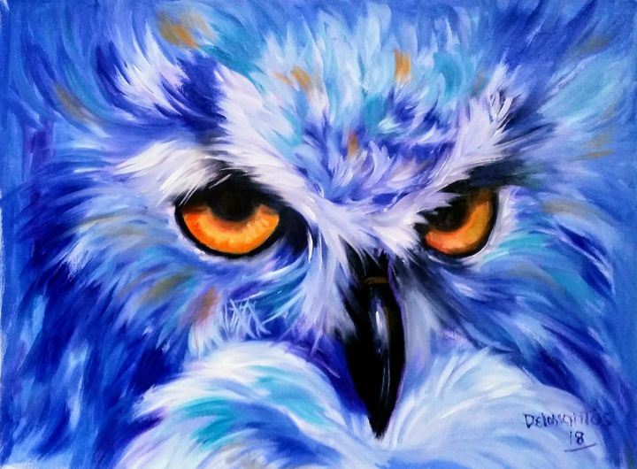 BLUE FEATHERS - krizzart