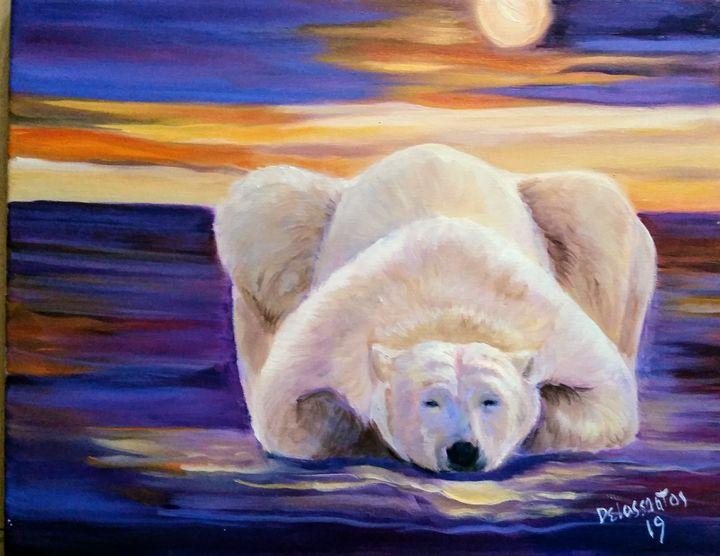 Lazy polar bear - krizzart