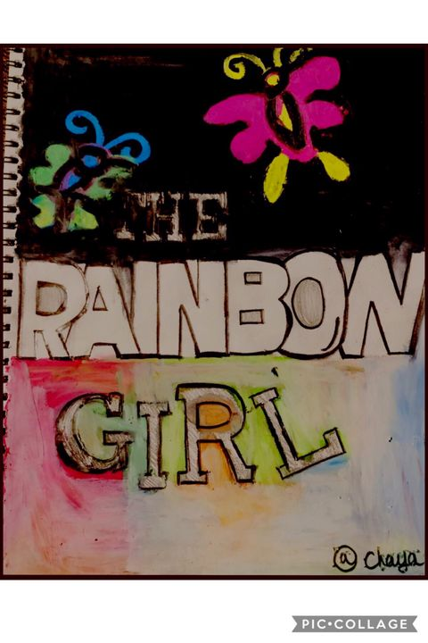 The rainbow girl - HueArtsy
