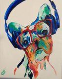 Original oil painting of DJ Sam