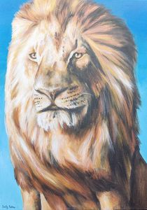Acrylic Lion Painting