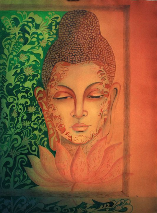 buddha paintings - Seema Maurya