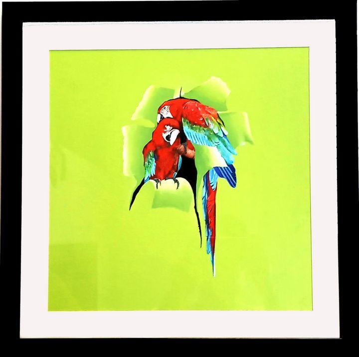 Bird from teared papper - Seema Maurya