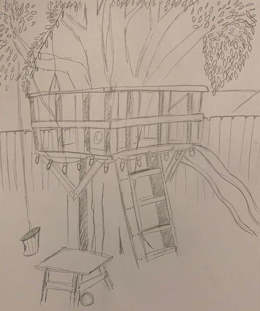 Backyard Tree House - Carl Beatty Art Gallery