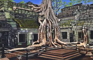 TA PROHM TEMPLE TREES