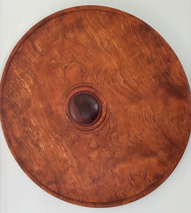 "21"" Diam. Wood turned wall hanging - Eric Hansen (Sleight of Hansen)"