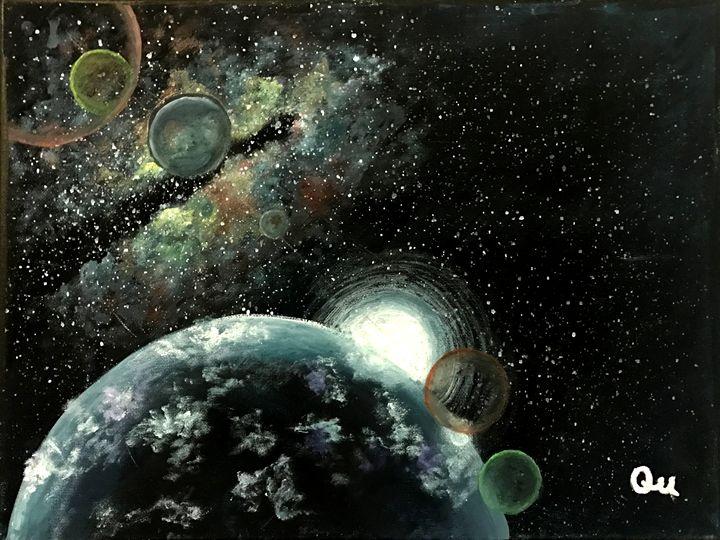 Acrylic Galaxy - Art by Qu