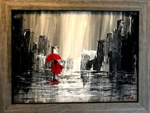 Off to nowhere with a Red Umbrella