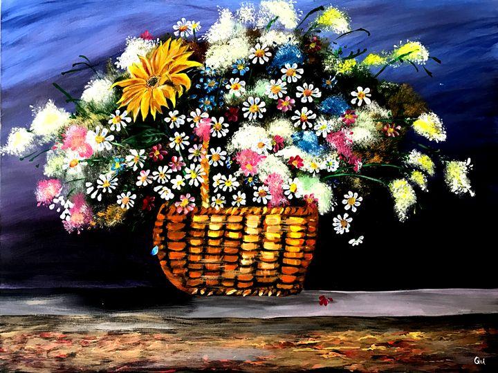 Flower and Basket Fancy - Art by Qu