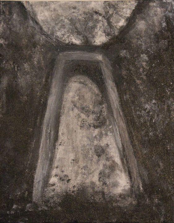 Portal - Black & White - Natacha Rioux Paintings