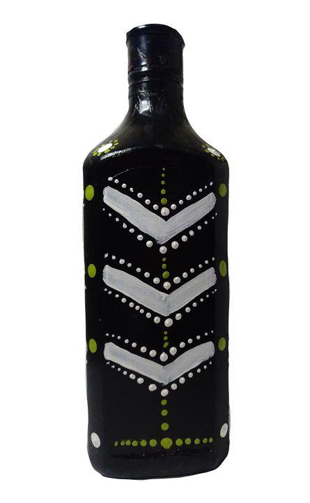 Pained black bottle - Shital choksi