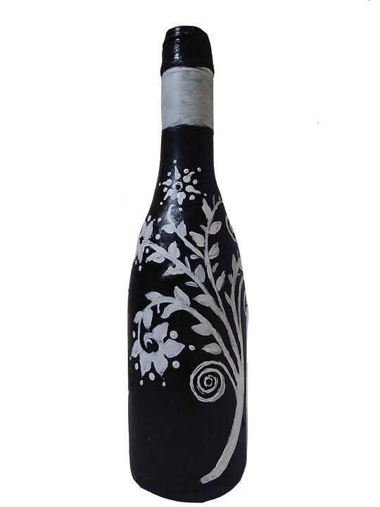 Black painted bottle - Shital choksi