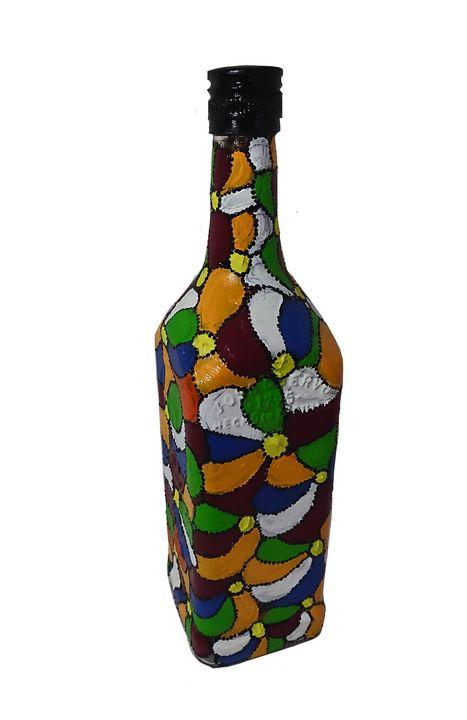 Multicolour flower bottle - Shital choksi