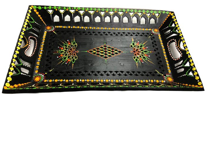 Mandala wooden tray - Shital choksi