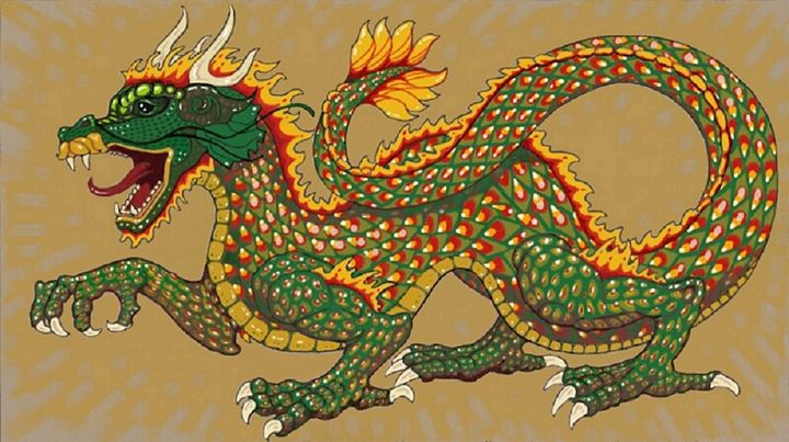 Chinese Flame Dragon - Five Styx Studio