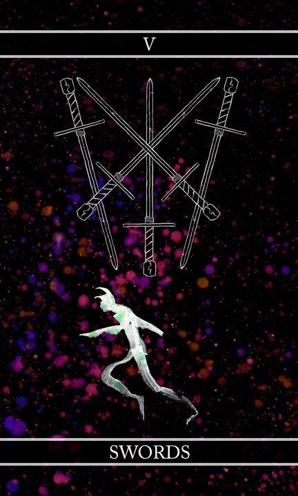 A Tarot of Ink - 05 of Swords - Wetdryvac.net