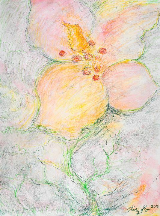 Emerging Flower - Katy Go Art