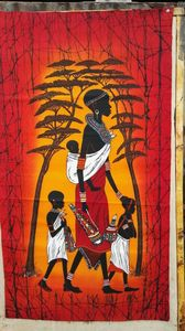 Maasai woman and kids
