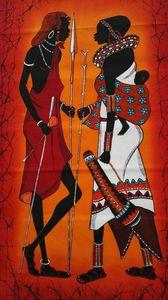 Masaai couple Batiks