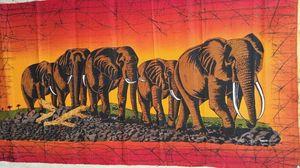 Original batik,Elephants migration.