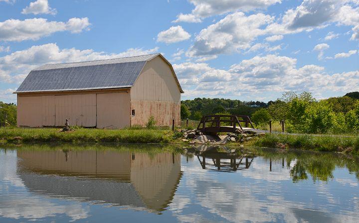 Pondside Barn Reflection - NatureBabe Photos