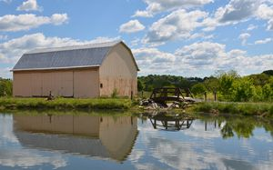 Pondside Barn Reflection