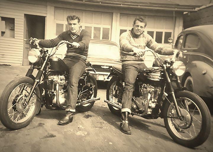 Vintage 1950s Bikers - NatureBabe Photos