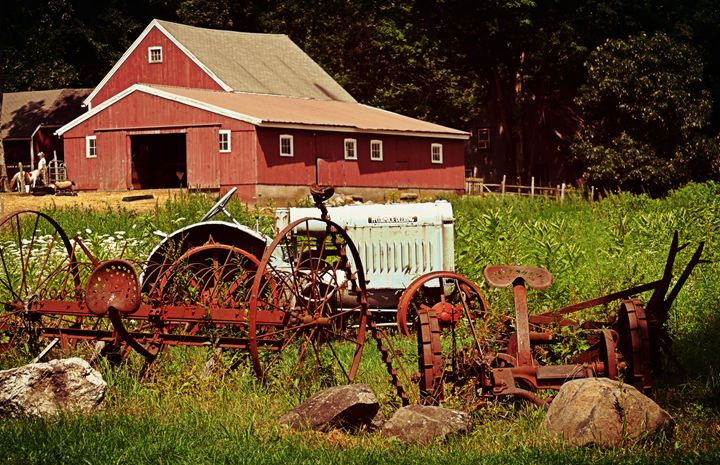 Antique Barn and Tractors - NatureBabe Photos