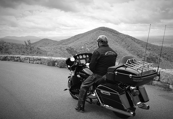 Biker on the Blue Ridge - NatureBabe Photos