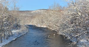 Snow-Covered Naugatuck River Valley