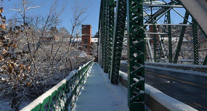 Depot Street Bridge after Snowstorm - NatureBabe Photos