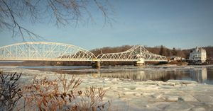 East Haddam Swing Bridge in Winter