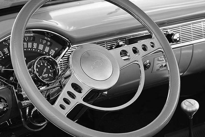Chevy Belair Steering Wheel and Dash - NatureBabe Photos
