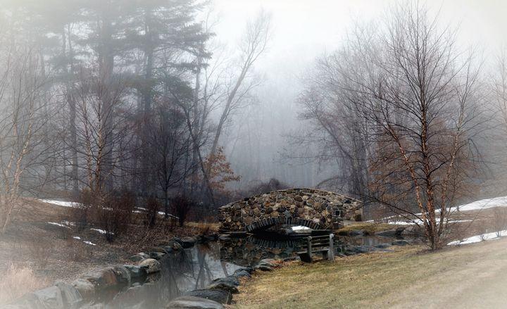 Footbridge on a Foggy March Morning - NatureBabe Photos