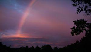 Rainbow of Hope before the Hurricane