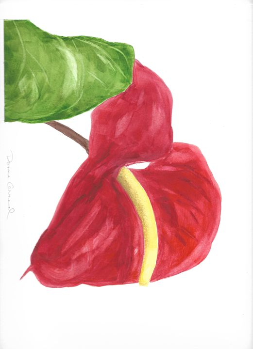 Flamingo Lily 1 - Donna Carneal Art Paintings