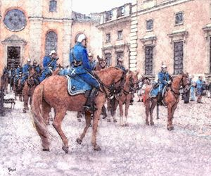 Swedish horse guards