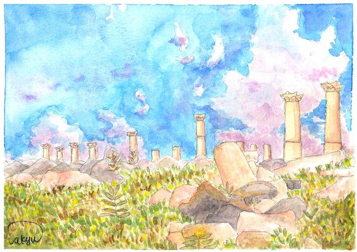 Um-Qais_Jordan - Watercolor Paintings