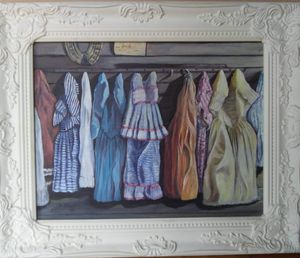 """Clothes on the Wall"" Acrylic"