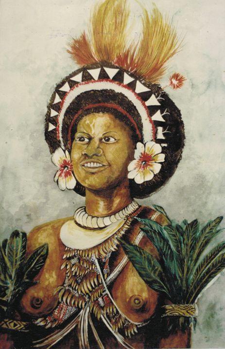 woman from Manus - widow's Craft