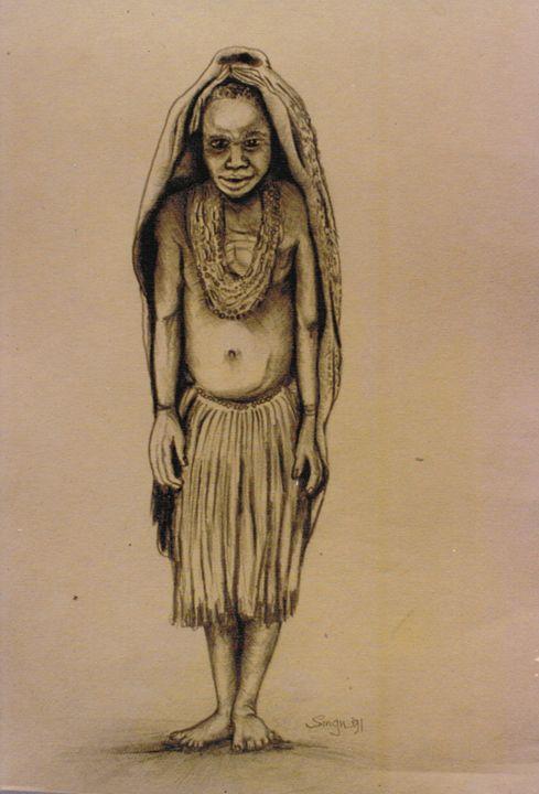 Girl -Highlands region - widow's Craft