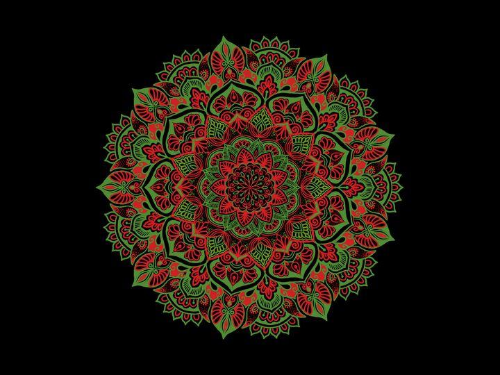 Colourful mandala - Shan