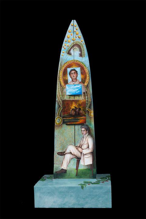 OBELISK FOR A FALLING SKY   ref #528 - Alejandro Mazon Fine Art