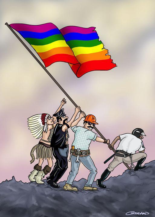 Rainbow over Iwo Jima - Clive Goddard