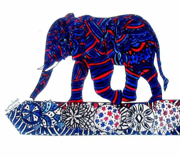 Patterned Elephant - Cynteevicks