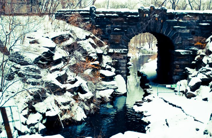 Winter Day At The Glen Span Arch - NAJE Foto