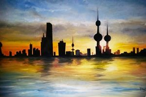 Kuwait summer sunset